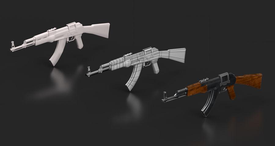 AK47 Gun royalty-free 3d model - Preview no. 5