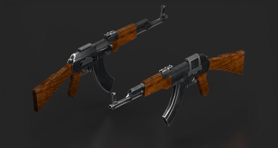 AK47 Gun royalty-free 3d model - Preview no. 2