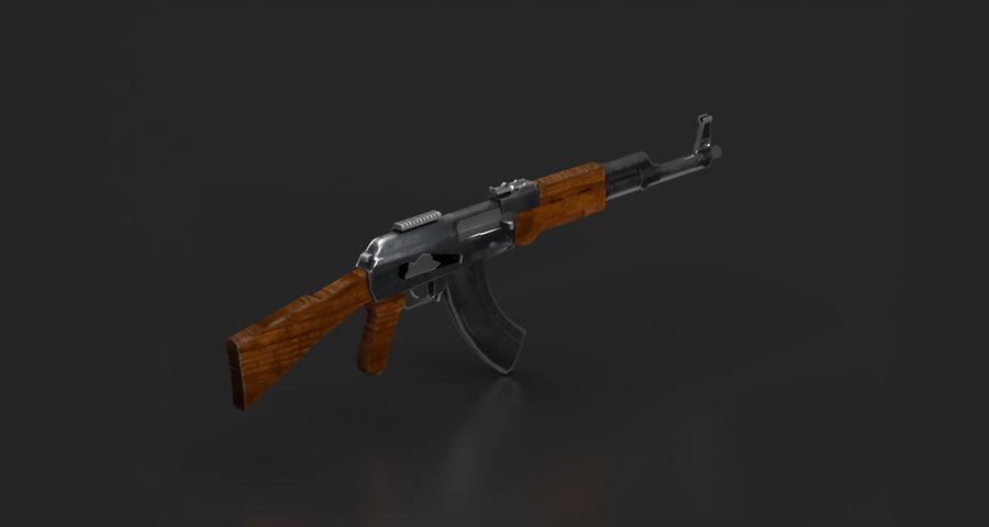 AK47 Gun royalty-free 3d model - Preview no. 4