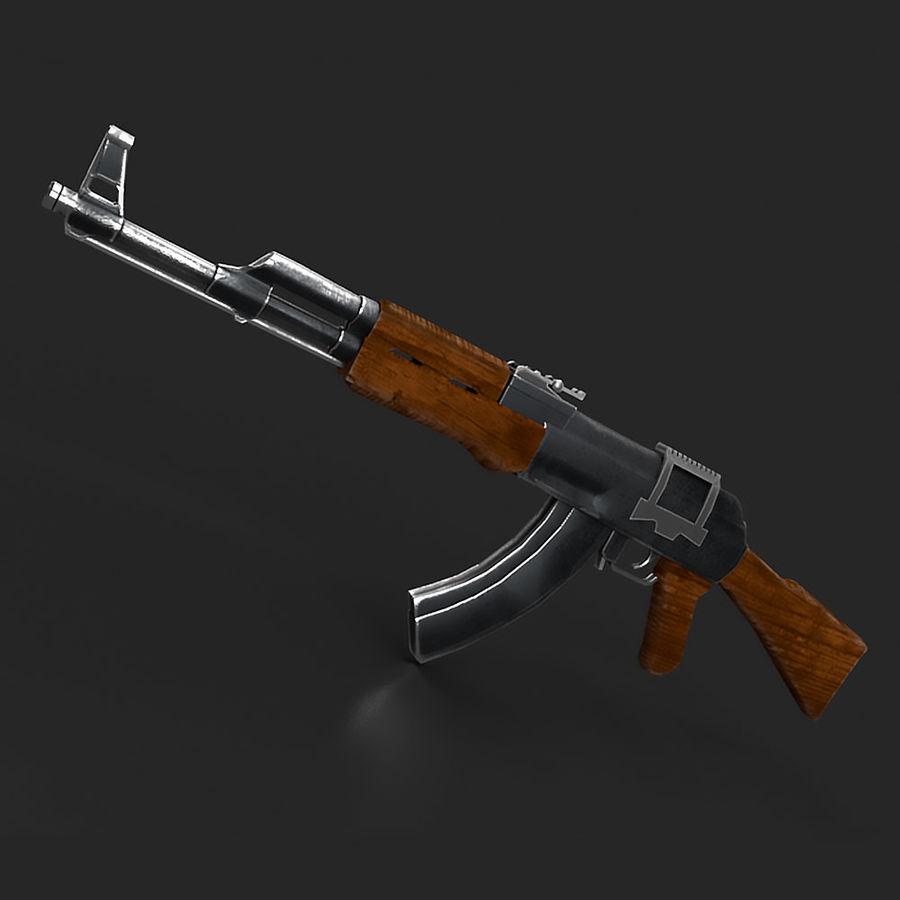 AK47 Gun royalty-free 3d model - Preview no. 1