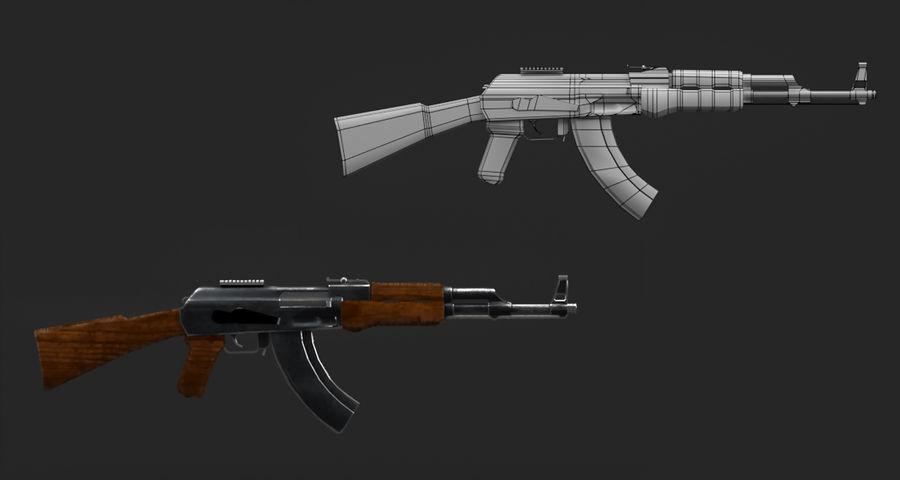 AK47 Gun royalty-free 3d model - Preview no. 7