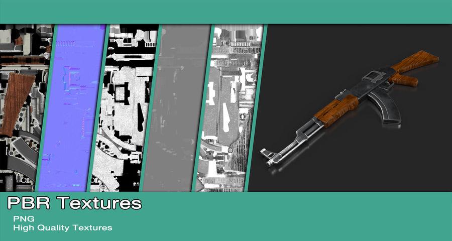 AK47 Gun royalty-free 3d model - Preview no. 11