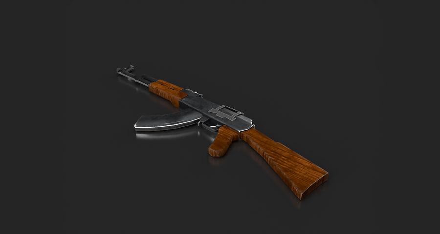 AK47 Gun royalty-free 3d model - Preview no. 9