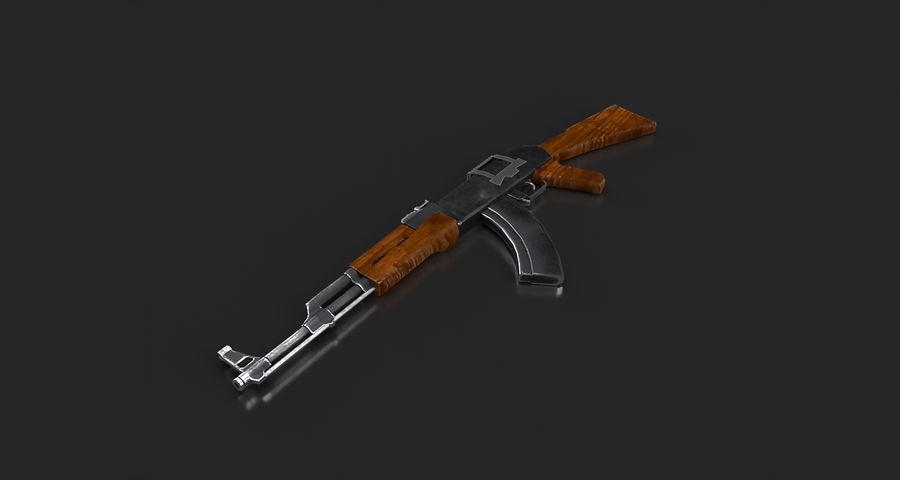 AK47 Gun royalty-free 3d model - Preview no. 8