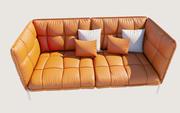 壳沙发 3d model