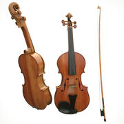 Violin fiddle wood 3d model