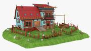 Fantasie-altes Haus 3d model