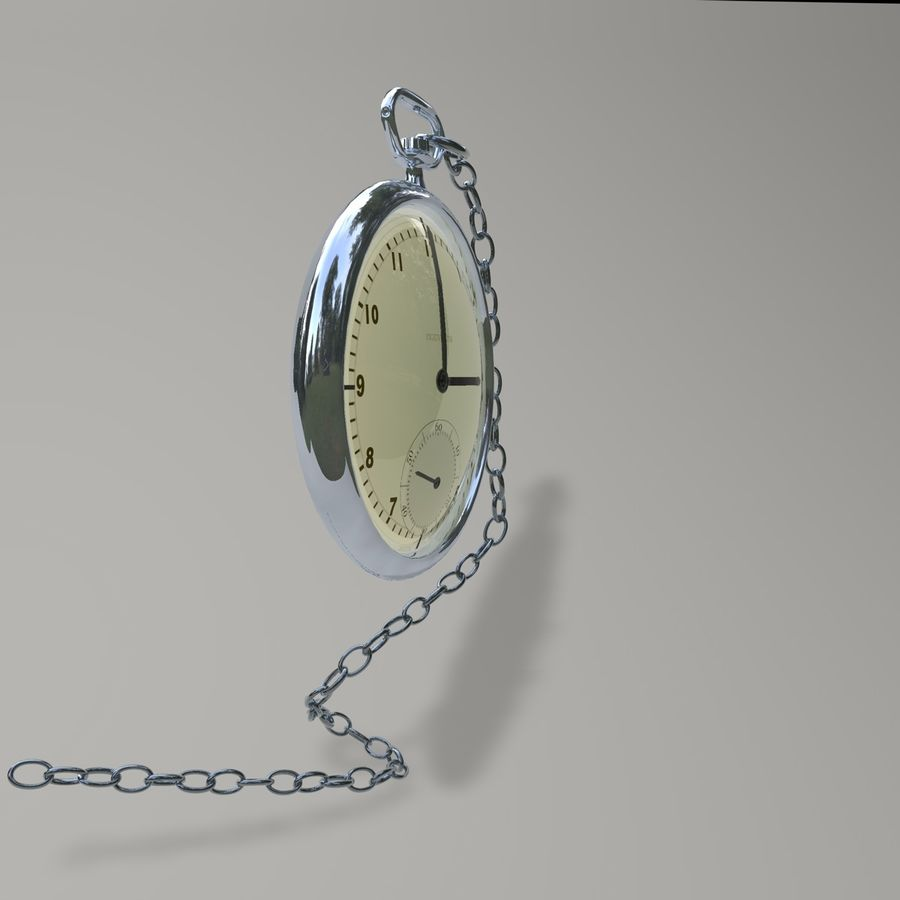 Pocket Watch royalty-free 3d model - Preview no. 7