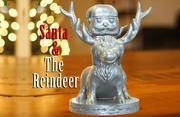 Дед Мороз и Олень 3d model