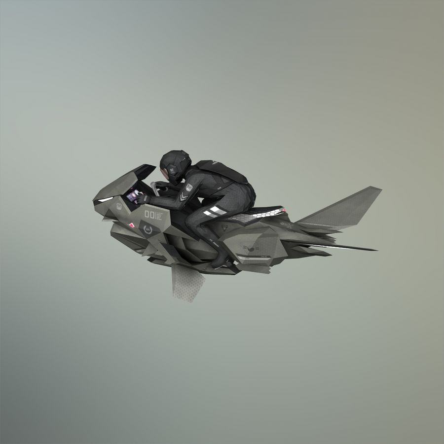 V-1 Jet Bike royalty-free 3d model - Preview no. 19
