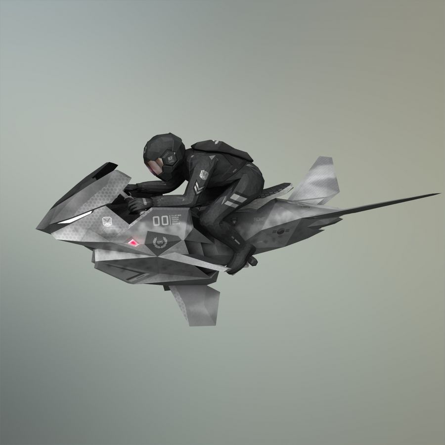 V-1 Jet Bike royalty-free 3d model - Preview no. 33