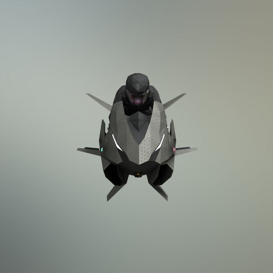 V-1 Jet Bike royalty-free 3d model - Preview no. 7