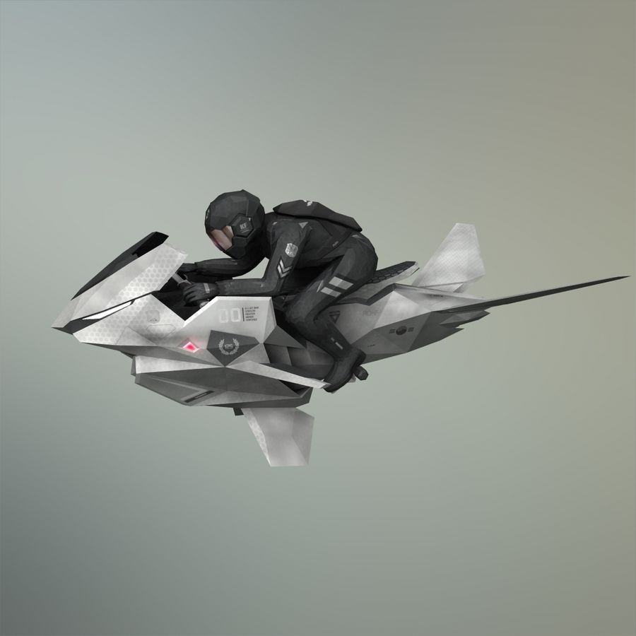 V-1 Jet Bike royalty-free 3d model - Preview no. 29