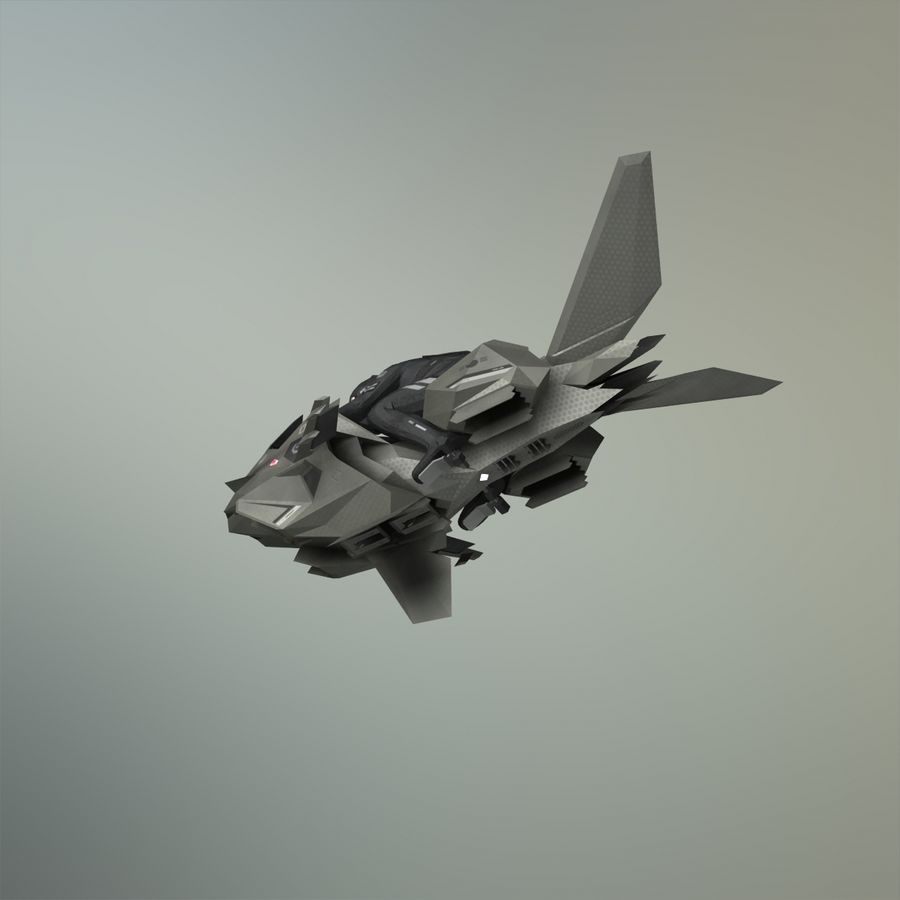 V-1 Jet Bike royalty-free 3d model - Preview no. 22