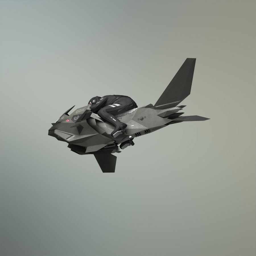 V-1 Jet Bike royalty-free 3d model - Preview no. 17