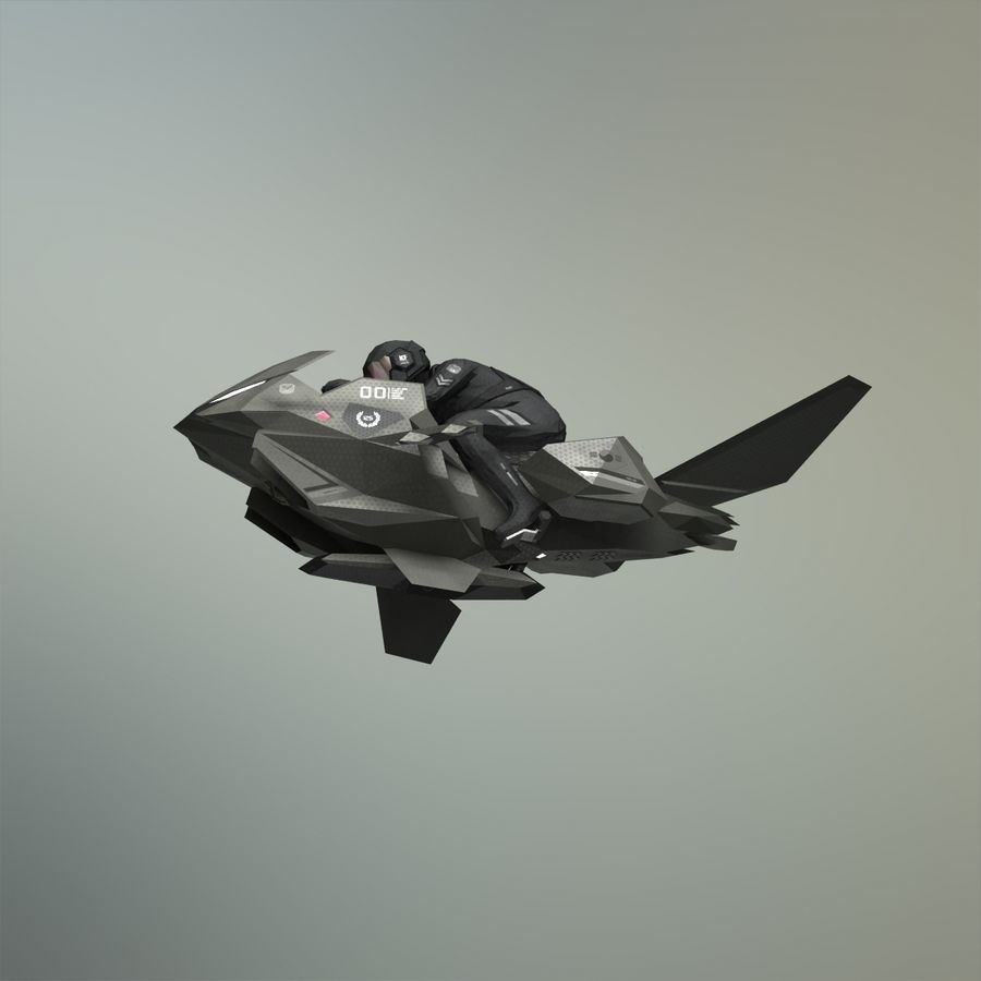 V-1 Jet Bike royalty-free 3d model - Preview no. 21