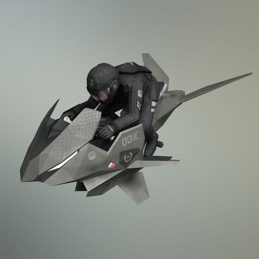 V-1 Jet Bike royalty-free 3d model - Preview no. 1