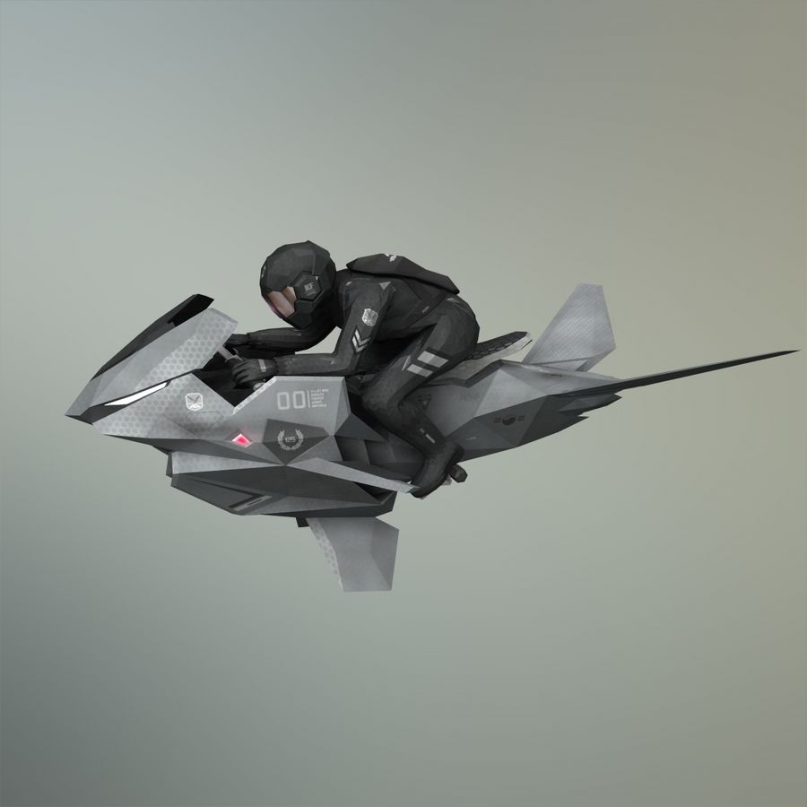 V-1 Jet Bike royalty-free 3d model - Preview no. 32