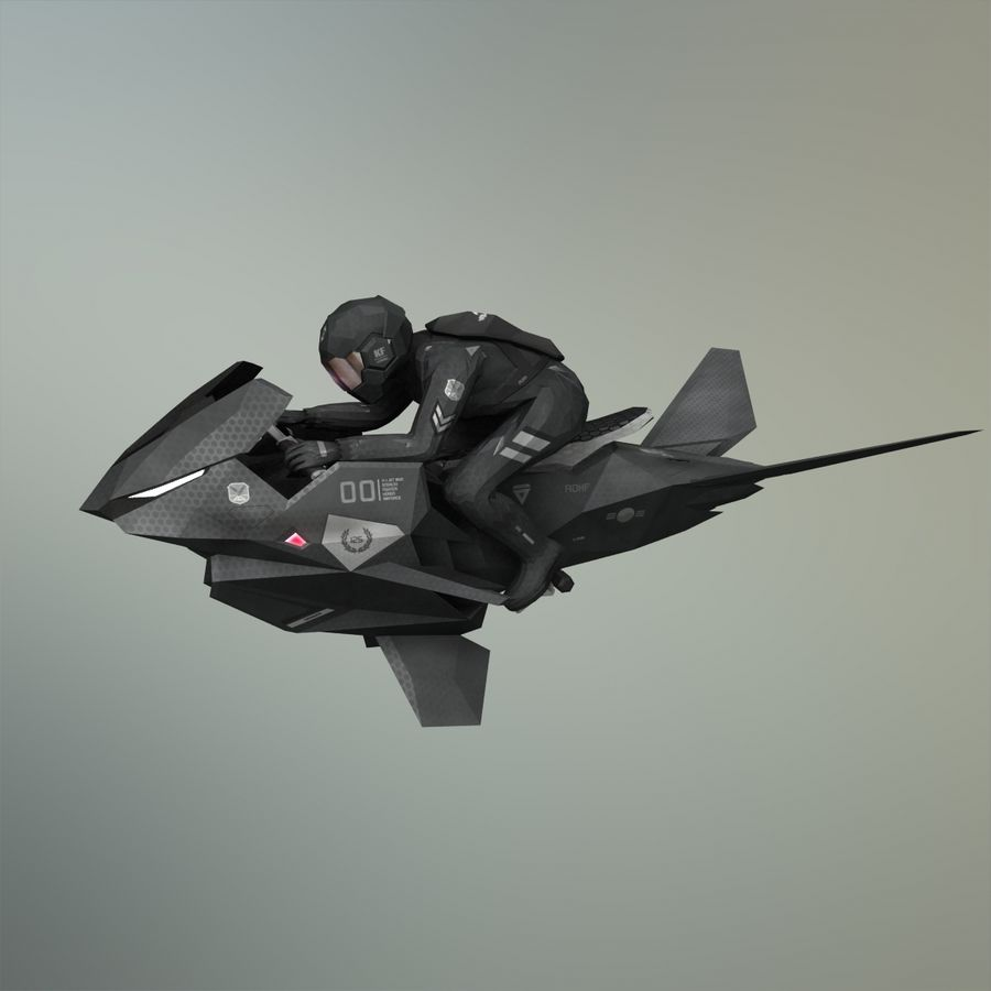 V-1 Jet Bike royalty-free 3d model - Preview no. 30