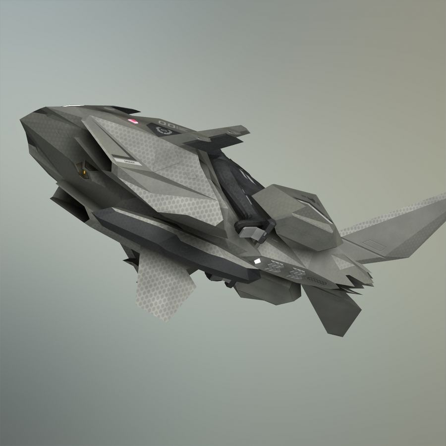 V-1 Jet Bike royalty-free 3d model - Preview no. 24