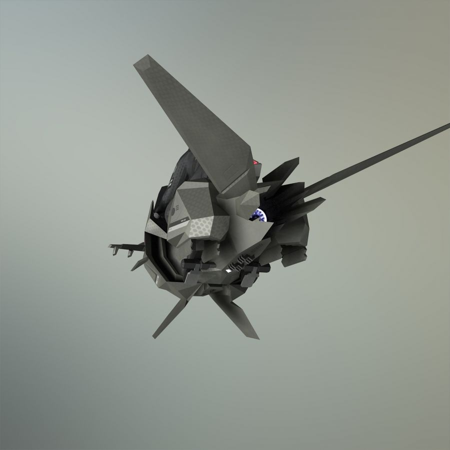 V-1 Jet Bike royalty-free 3d model - Preview no. 23