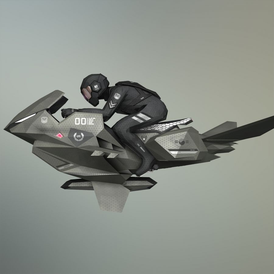 V-1 Jet Bike royalty-free 3d model - Preview no. 26