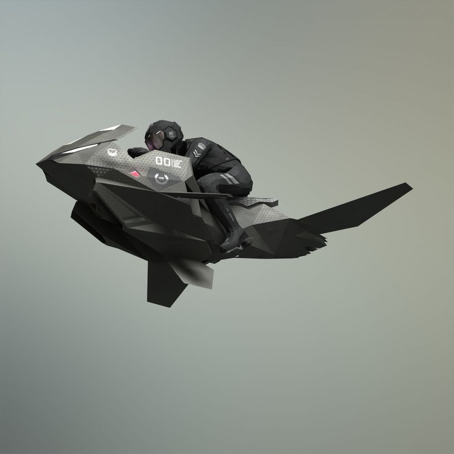 V-1 Jet Bike royalty-free 3d model - Preview no. 6