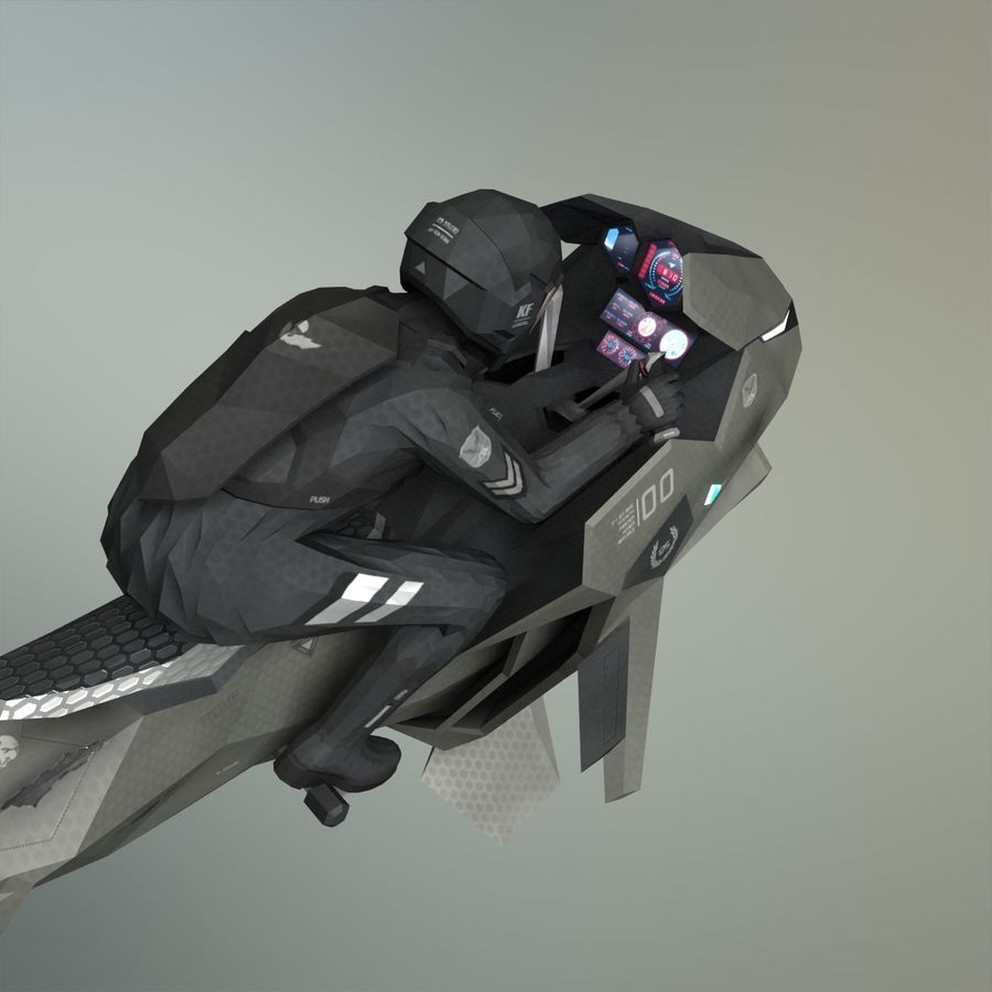 V-1 Jet Bike royalty-free 3d model - Preview no. 10