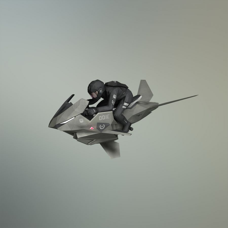 V-1 Jet Bike royalty-free 3d model - Preview no. 14
