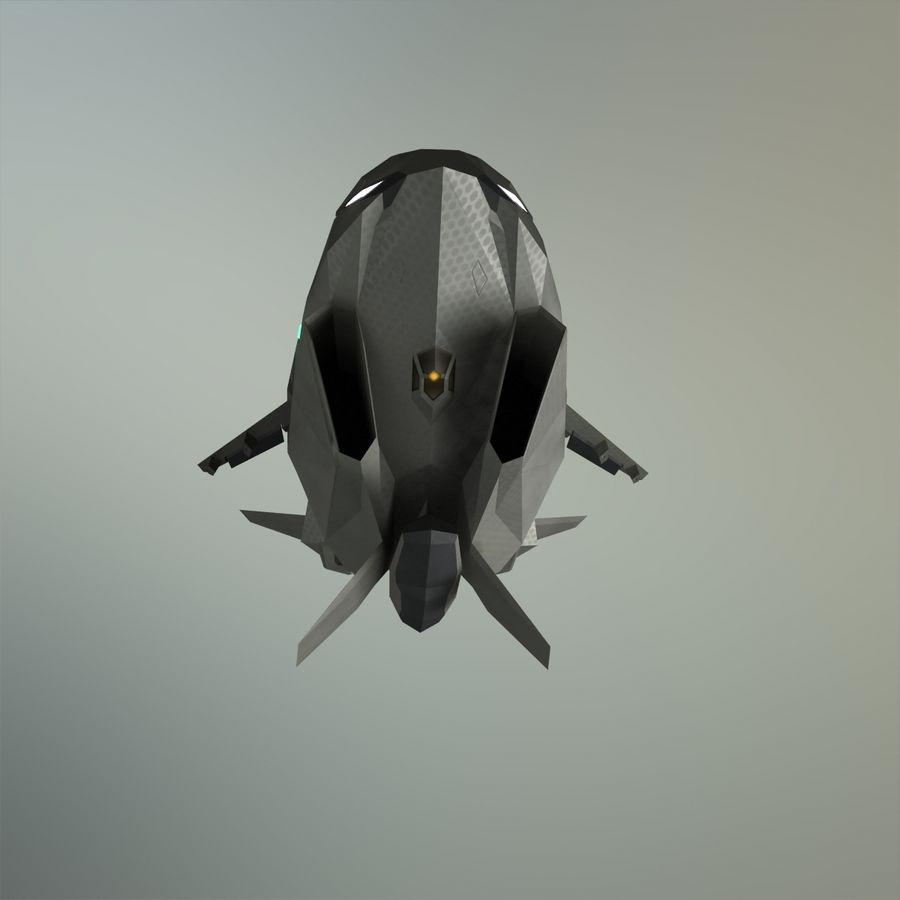 V-1 Jet Bike royalty-free 3d model - Preview no. 25