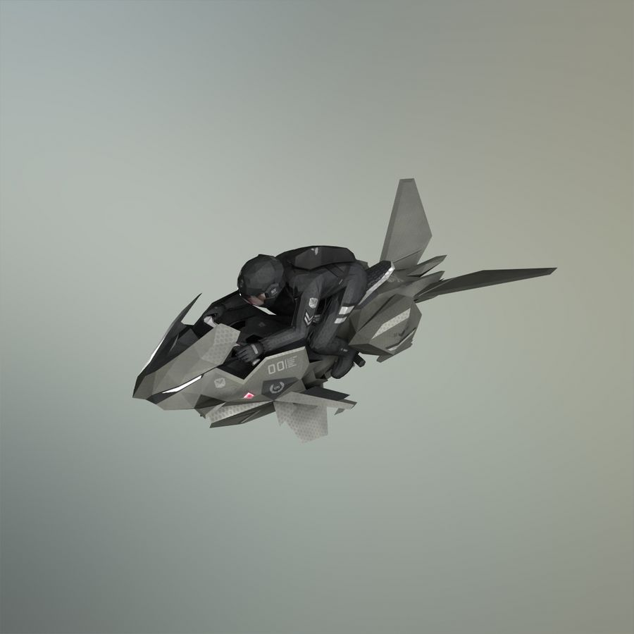 V-1 Jet Bike royalty-free 3d model - Preview no. 20