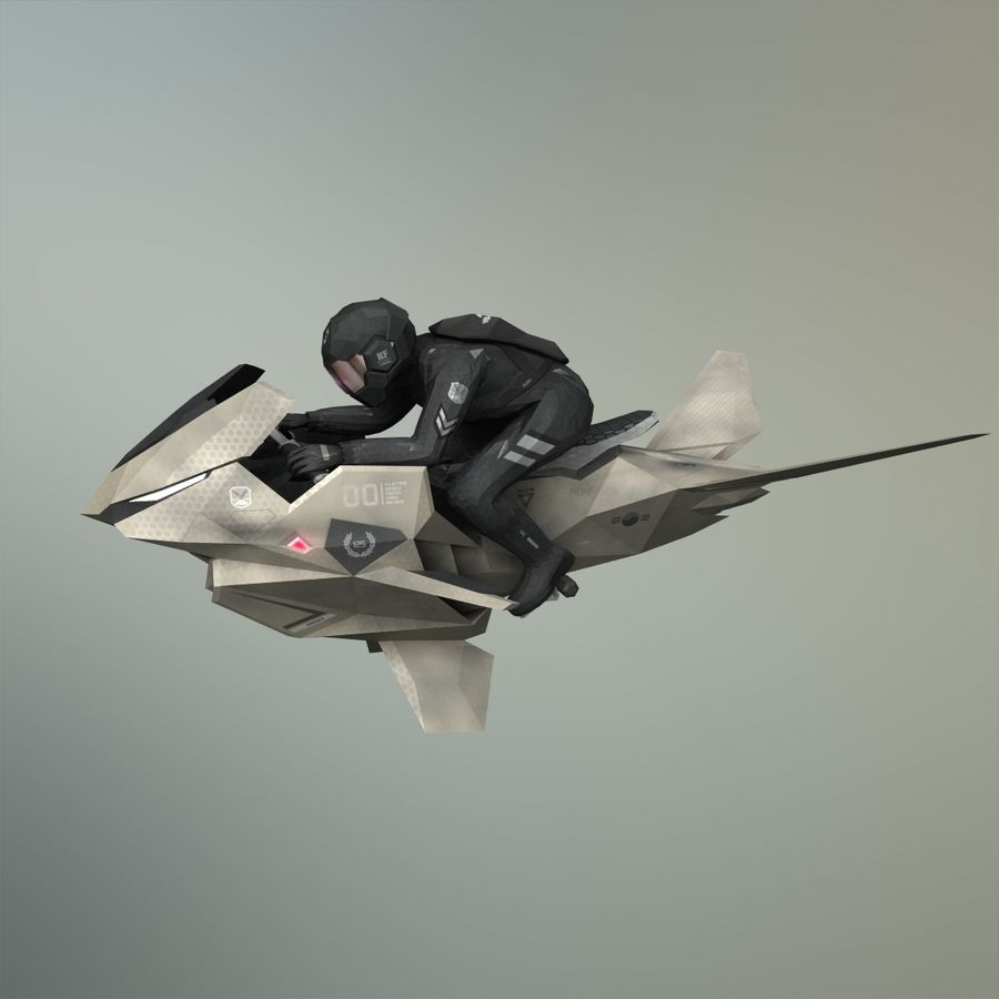 V-1 Jet Bike royalty-free 3d model - Preview no. 31