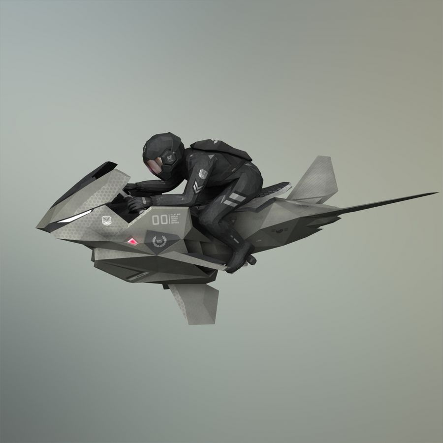 V-1 Jet Bike royalty-free 3d model - Preview no. 28