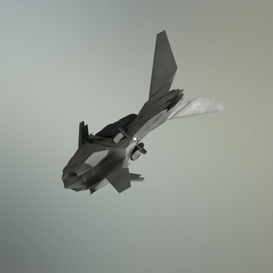 V-1 Jet Bike royalty-free 3d model - Preview no. 13