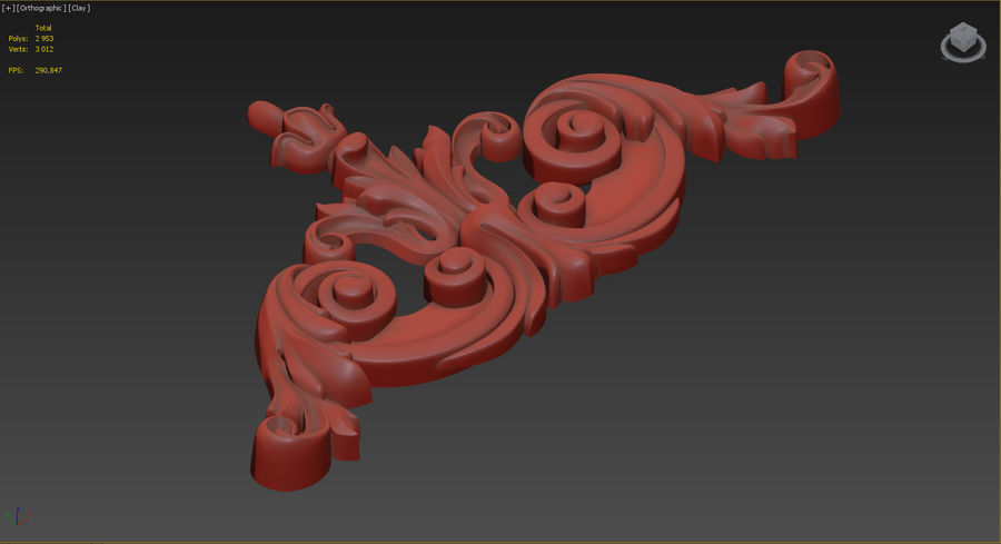 Rzeźbiony wystrój royalty-free 3d model - Preview no. 4