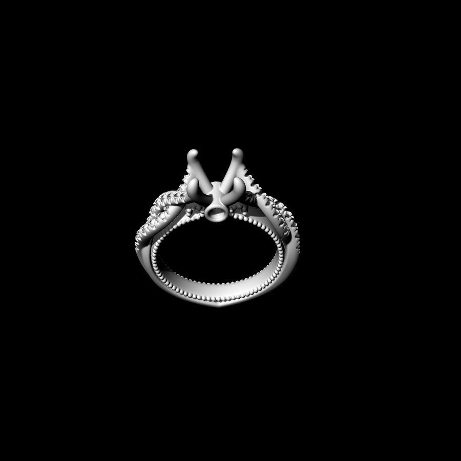 Büküm nişan yüzüğü 002 royalty-free 3d model - Preview no. 10