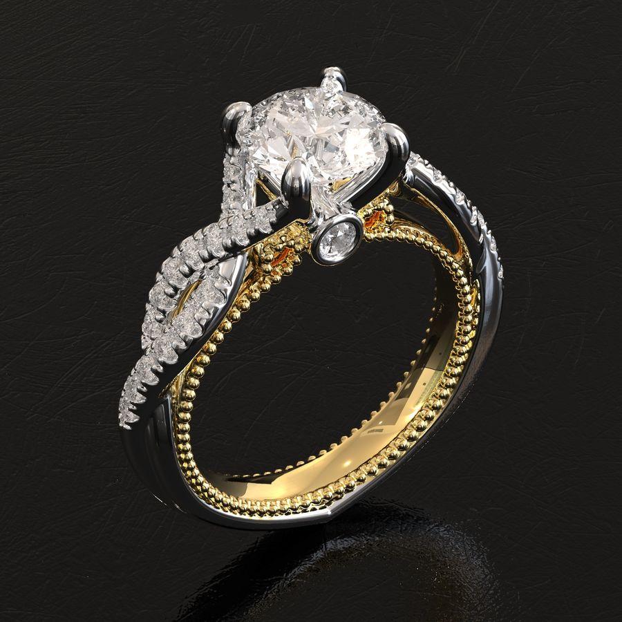 Büküm nişan yüzüğü 002 royalty-free 3d model - Preview no. 2
