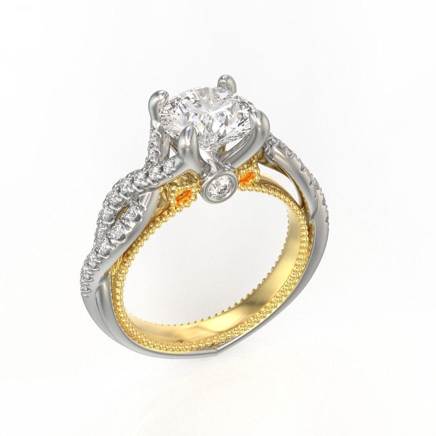 Büküm nişan yüzüğü 002 royalty-free 3d model - Preview no. 15