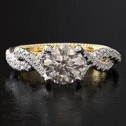 Büküm nişan yüzüğü 002 3d model