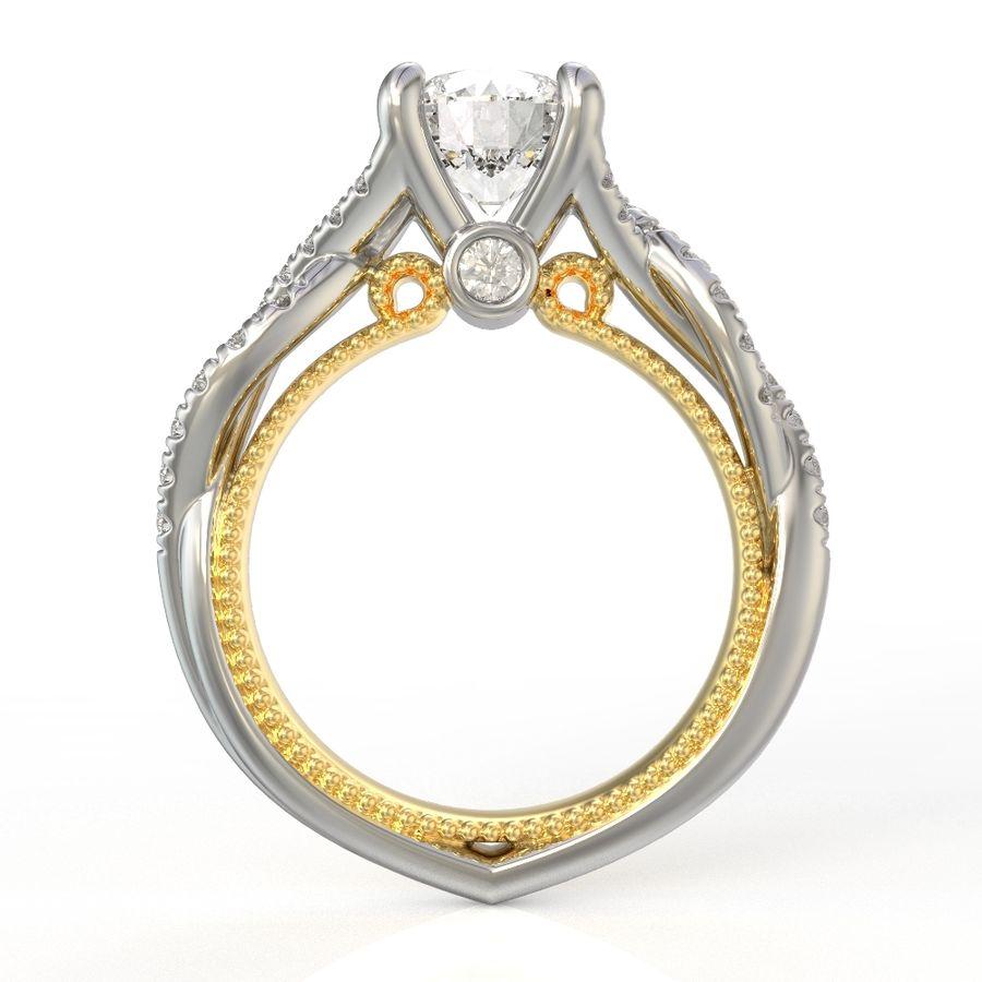 Büküm nişan yüzüğü 002 royalty-free 3d model - Preview no. 12