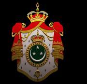 Escudo de armas del Reino de Egipto modelo 3d