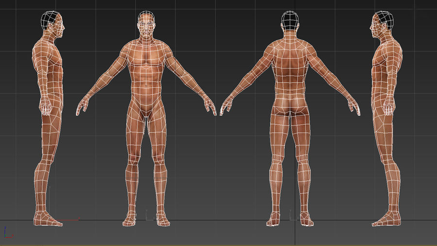 底网男 royalty-free 3d model - Preview no. 3