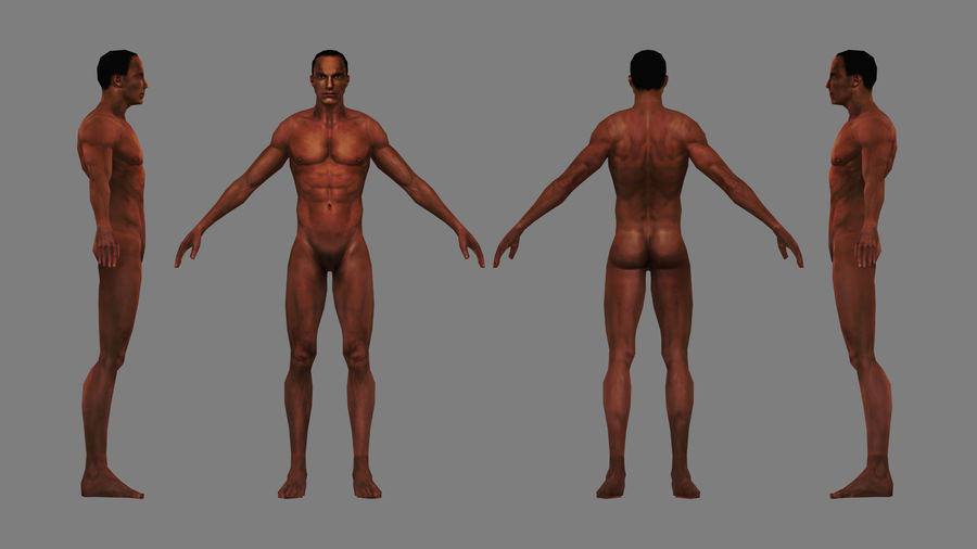 底网男 royalty-free 3d model - Preview no. 4