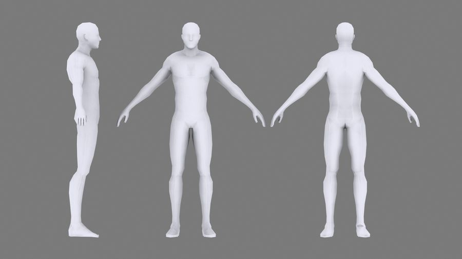 底网男 royalty-free 3d model - Preview no. 15