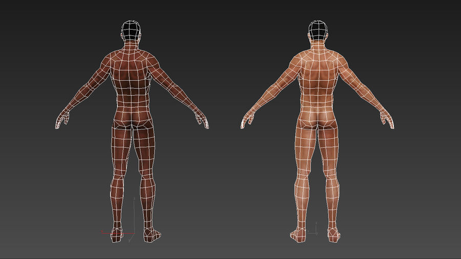 底网男 royalty-free 3d model - Preview no. 14