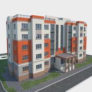 Construcción y paisaje modelo 3d
