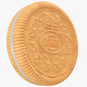 Golden Oreo Biscuit Cookie 3d model