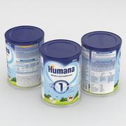 베이비 밀크 캔 Humana 1 350g 3d model