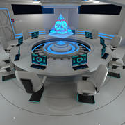 Научно-фантастический конференц-зал 3d model