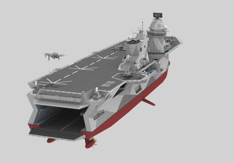 수륙 양용 폭행 royalty-free 3d model - Preview no. 4